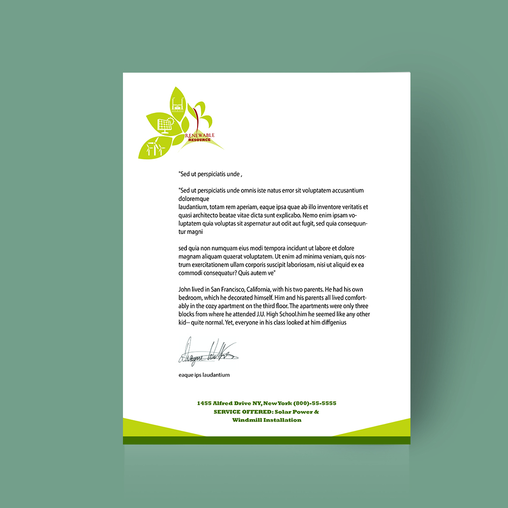 letterhead, stationery